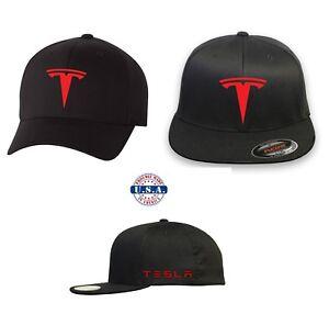 TESLA MOTOR MODEL 3 S Flex Fit HAT CURVED or FLAT BILL  FREE ... 4a9611a5b88