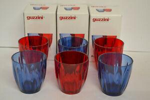 GUZZINI aqua collection Salatschüssel rot  24cm mit Besteck aus Kunststoff  NEU
