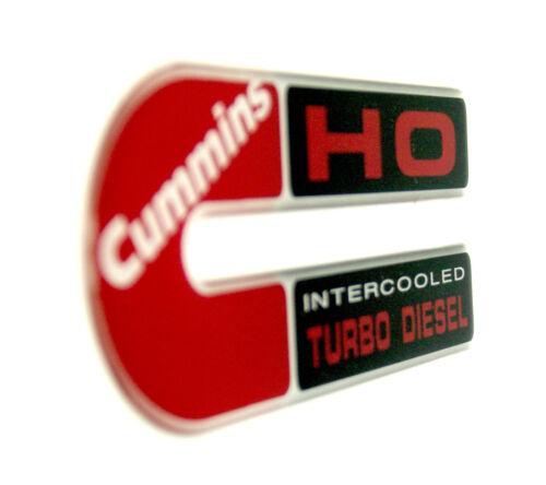CUMMINS HO Intercooled TD EMBLEM stretched RED
