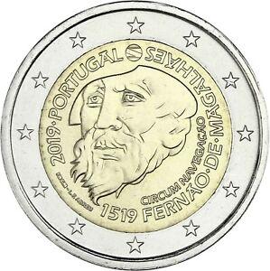 Portugal-2-Euro-2019-Magellan-Weltumsegelung-Gedenkmuenze-bankfrisch
