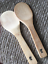 Wood Spoon Rice paddle 9 inch Great for teflon non scratch skillets