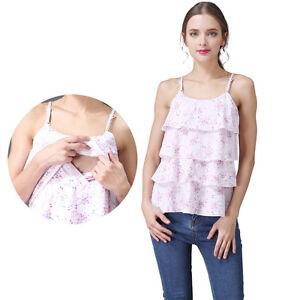 6212e7dda011a Image is loading Summer-Maternity-Clothes-Nursing-Tank-Tops-Sleeveless- Breastfeeding-