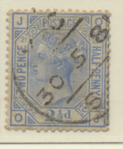 Great Britain Stamp Scott #82 Plate #21, Used