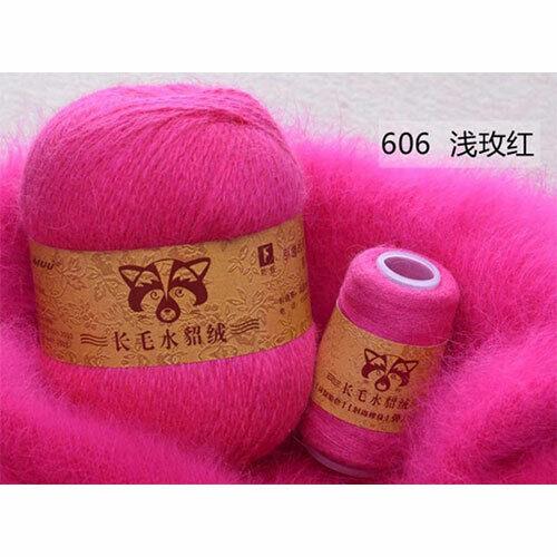 50+20g peluche vison cheveux fil Main Tricot Crochet Fil Pour Écharpe Hiver Automne