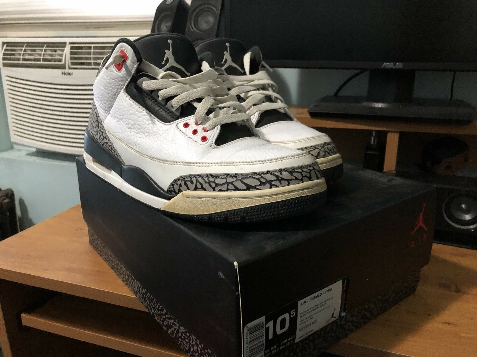 Air Jordan infrarot 3's 10.5 USED
