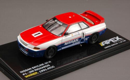 Nissan Skyline Gt-R #1 Winner Atcc 1991 Jim Richards 1:43 Model APEX REPLICAS