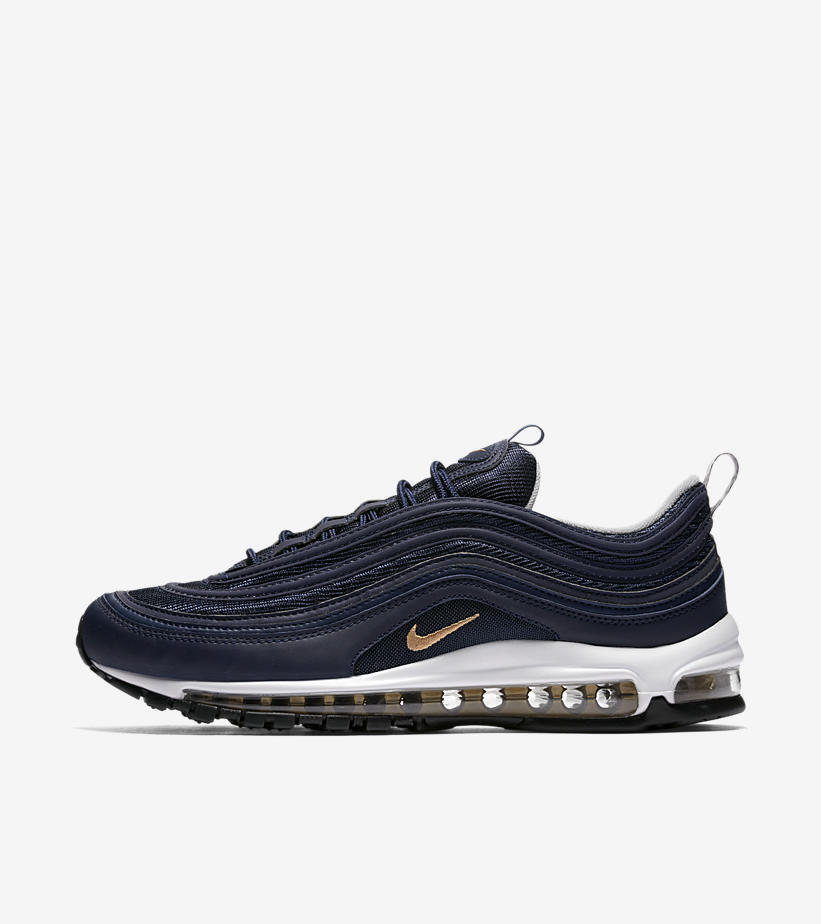 info for 555be 6845b ... best price nike air max 97 og midnight navy metallic casual oro plata  921826 400 cómodo