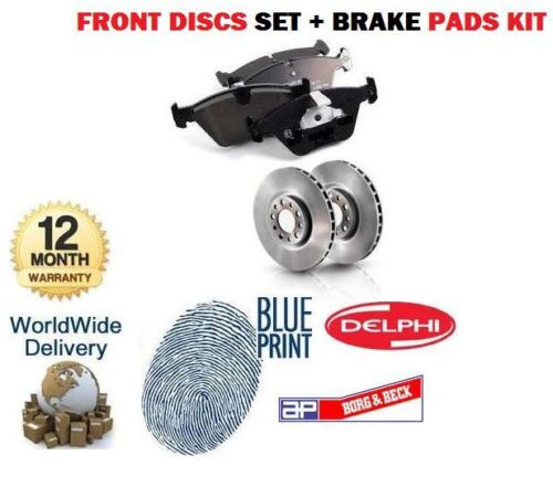 FOR TOYOTA HILUX 2.5TD D4D 2001-2005 FRONT BRAKE DISCS SET AND DISC PADS KIT