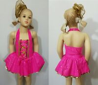Gold Dust Baby Dance Costume Tap Ballet Dress/shoe Bows Clearance Child X-small