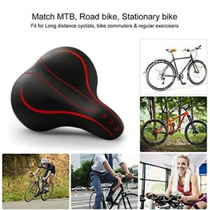 Comfort Thickened Bicycle Saddle Soft Outdoor Wide Big Bike Spring Seat Cushion