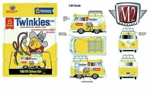 PREORDER  M2 MACHINES HOBBY EXCLUSIVE 1960 SHORTTIE TWINKIES VW BUS  LIMITED EDI