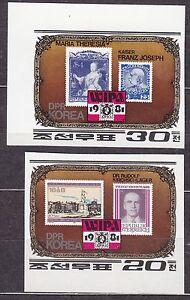KOREA-Pn-1981-MNH-SC-2077-78-set-WIPA-1981-Stamp-Exhibition-Vienna-Imp