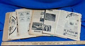 1960s-Scrapbook-Magazine-Clippings-Hotrod-Ratrod-Photos-Tune-Up-Tips-Art-VTG
