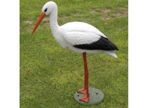 Animali Da Giardino In Plastica.Cicogna Decorazione Da Giardino H Cm 75 In Plastica Resina Ebay