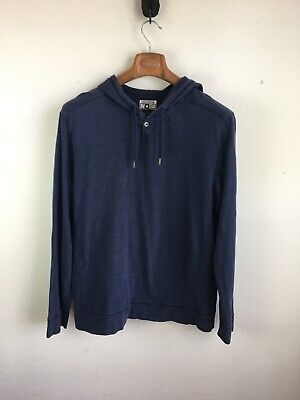 Converse One Star Mens Sweater Hoodie L Large Blue Lightweight Cotton Knit | eBay