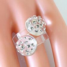 Clear Double Mushroom Acrylic Ring Dotting Cystal Elements Made By Swarovski 9