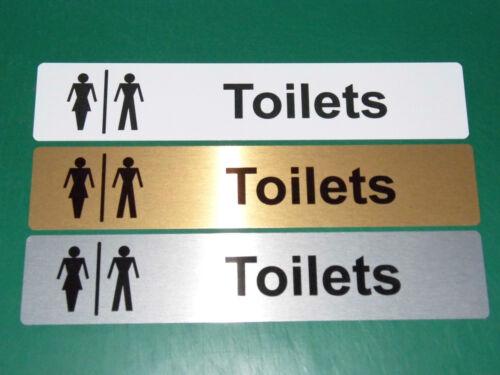 Toilets Door Sign 255x50mm