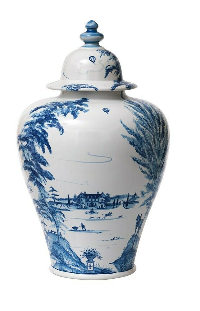 JULISKA Country Estate Delft Bleu Couvercle ginger jar 17