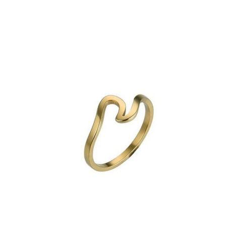 stylischer schmaler Design Ring Welle cool elegant trendy Schmuck