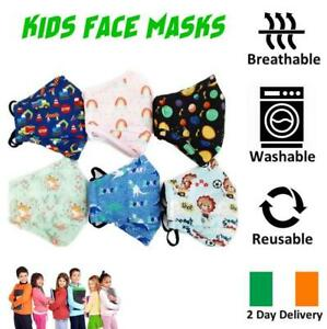 KIDS-FACE-MASK-ULTRA-SOFT-BREATHABLE-amp-WASHABLE-IRISH-2-DAY-DELIVERY-6-STYLES