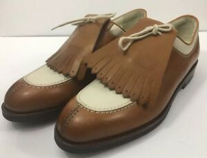 Ladies 1998  Nike Air Zoom Bello Brown & White Golf Shoes Size 9.5 Made In Italy