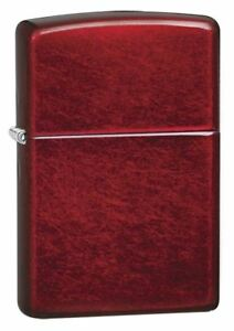 Genuine-Zippo-Windproof-Refillable-Petrol-Lighter-without-Logo-Candy-Apple-Red