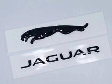 2x Black Jaguar Logo Emblem Rear Badge Decal Xf Xj Xk Xjr Xjs E X S Type