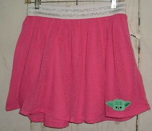 New-Mad-Engine-Star-Wars-Girls-Pink-Stretchy-Skirt-with-Yoda-Size-XL-14-16
