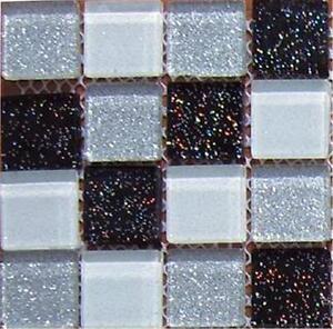 black silver white glitter glass kitchen bathroom mosaic wall tile