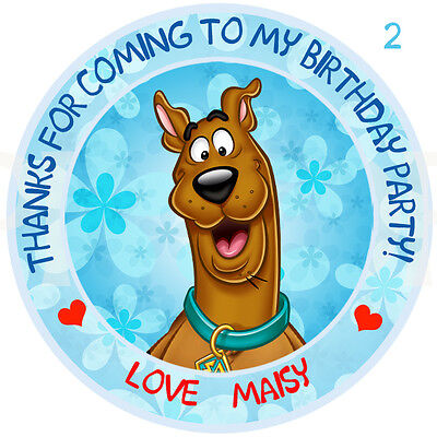15 Scooby Doo Action Large Stickers Dog Party Favors
