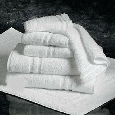 6 NEW BATH TOWELS 20X40 6 MATCHING HAND TOWELS DOUBLE CAM BORDER 100% COTTON