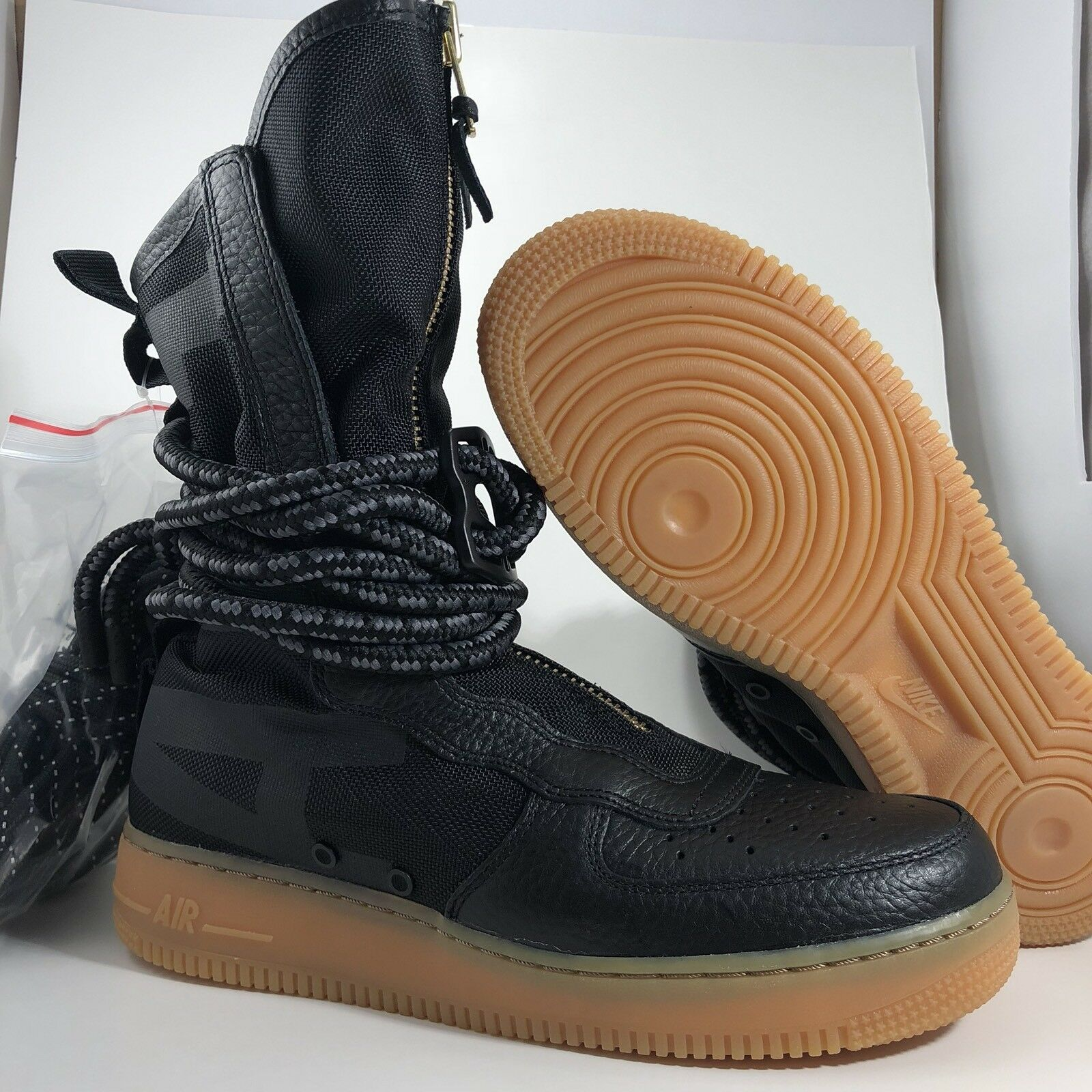 Nike sf af1 ciao nero / gomma air force force air 1 stivali Uomo dimensioni 9.5 (aa1128 001) ac4792