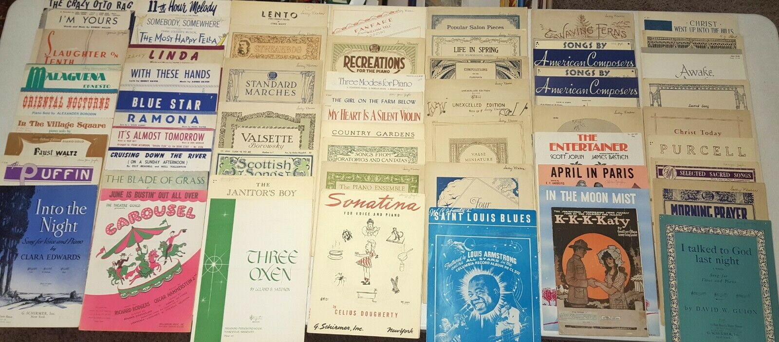 Antique & Vintage Piano Sheet Music 1895-1980 Classical Jazz + More (60 pieces)
