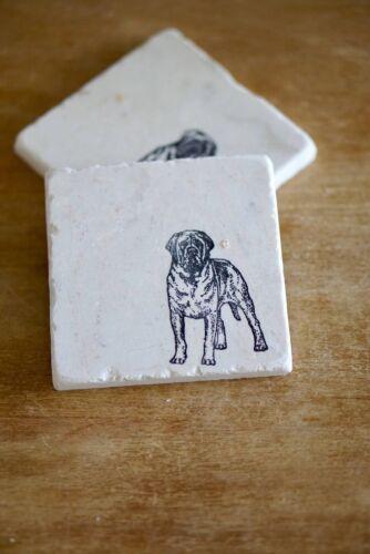 English Mastiff Marble Dog Coasters