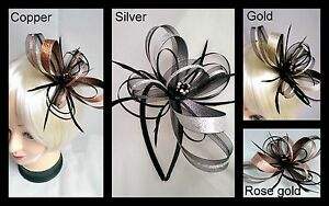 New-black-metallic-copper-silver-gold-or-rose-gold-fascinator-with-diamante-039