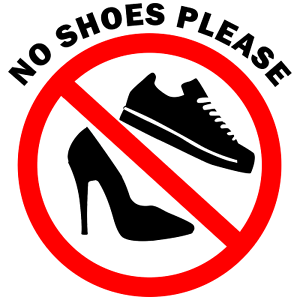 take off your shoes sign vinyl decal wall safety sticker 371 ebay. Black Bedroom Furniture Sets. Home Design Ideas