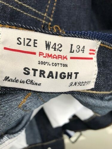 Nuovo Pjmark Jeans Leg out Blue W Tag Straight 4wZIwS