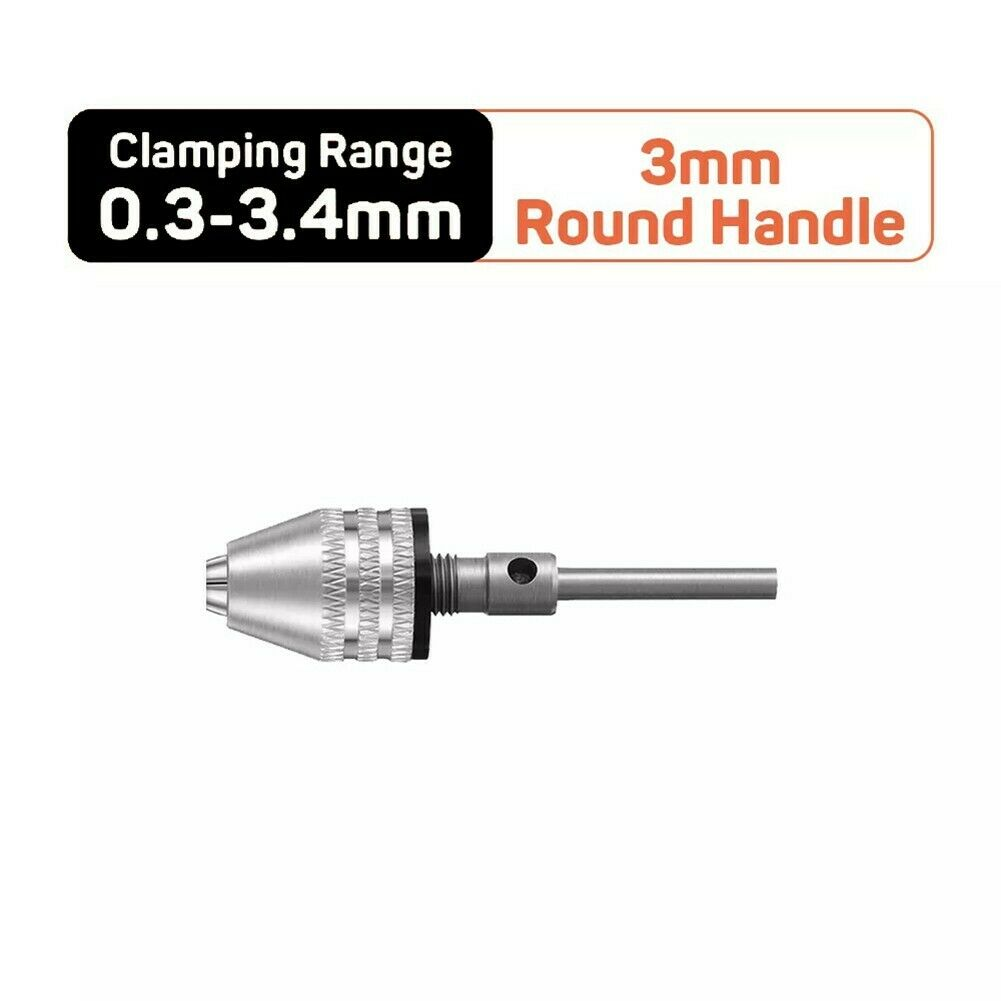 1/4 Hex Shank 0.3-6.5mm Impact Driver Keyless Drill Bit Chuck Adapter Converter