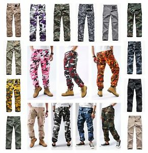 Mens-Military-Army-BDU-Pants-Casual-Camo-Work-Outdoor-Zip-Fly-Cargo-Pants