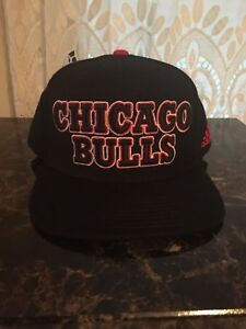 aac4bf9bf10 Adidas Chicago Bulls 2013 NBA Draft Cap Hat Snapback Black Red One ...