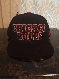84965b76809 Adidas Chicago Bulls 2013 NBA Draft Cap Hat Snapback Black Red One ...