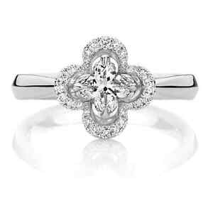 4735956141d25 Details about Brand New- Genuine 18ct White Gold Lily Cut Diamond  Engagement Ring RRP $7,99