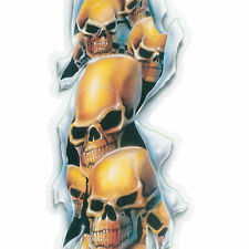 LETHAL THREAT Sticker/Aufkleber SHRED SCULL LONG Helm,Bike,Quad,Auto,Truck