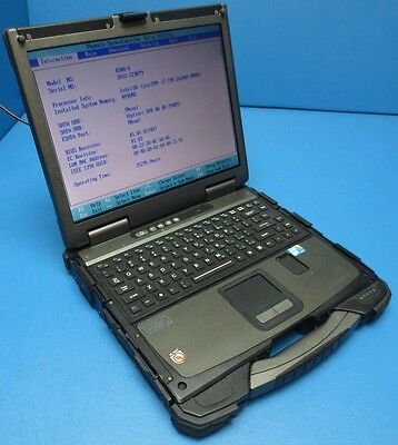 LOT OF 2 GETAC-B300 INTEL-i7-2.0GHz-4GB RAM-TOUGHBOOK-LAPTOP !!MISSING PARTS!!