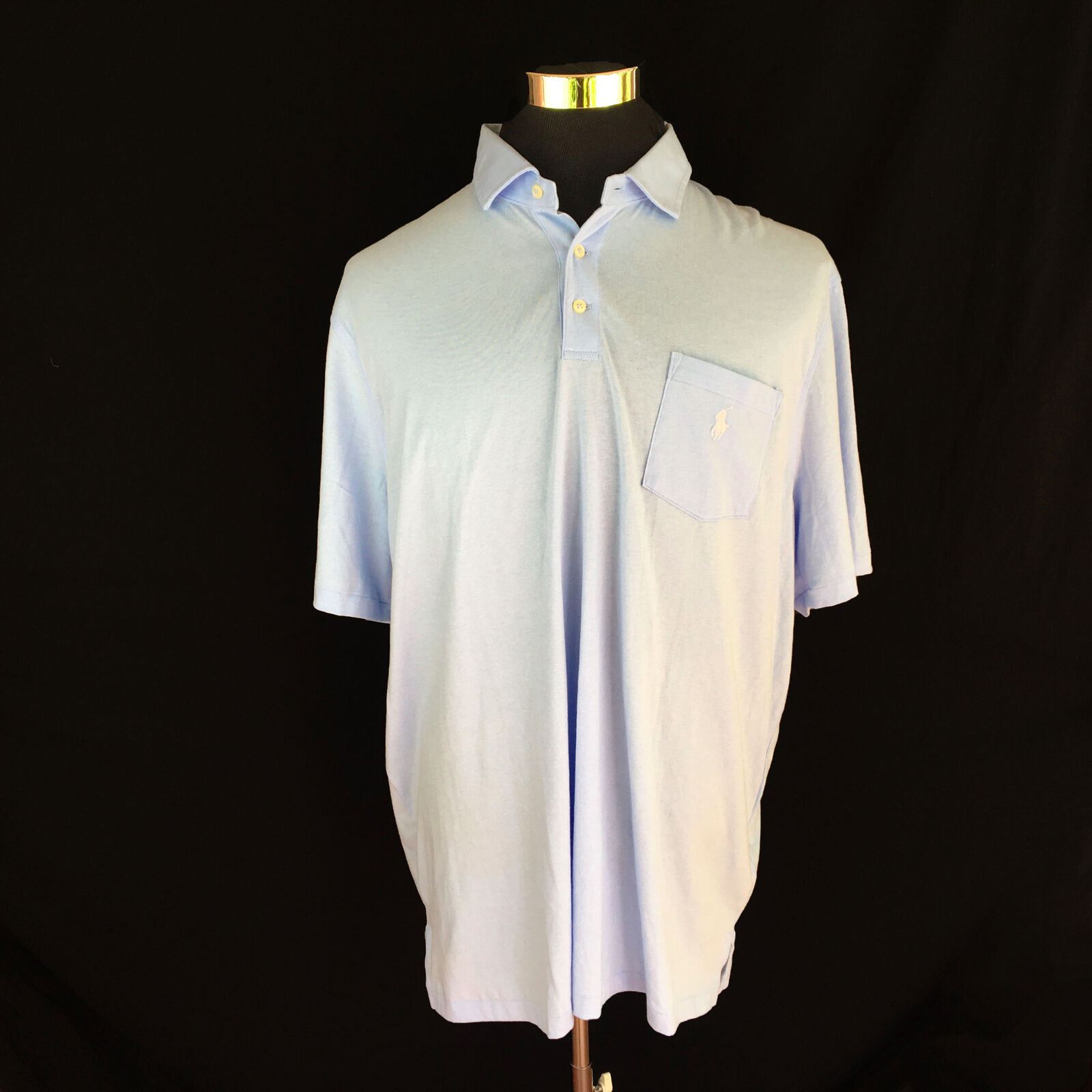 NEW Polo Ralph Lauren Shirt Classic Fit Light bluee Solid White Pony Various Size