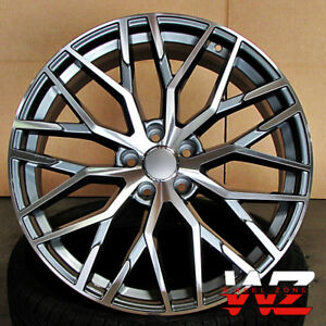 In R Style Wheels Gunmetal Machined Fits Audi A S A S - Audi rims