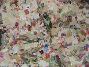 Used-off-Paper-1000-US-Stamps-From-a-huge-hoard-box-collection