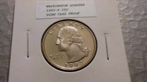 1993S 25c Clad Proof Washington Quarter