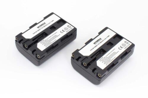 2x BATTERY INTENSILO 1600mAh for Sony D-SLR A100 ALPHA 100 A-100