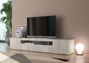 Mobile Porta Tv Basso Moderno.Frozen Mobile Porta Tv 3 Ante Living Cemento Design Moderno